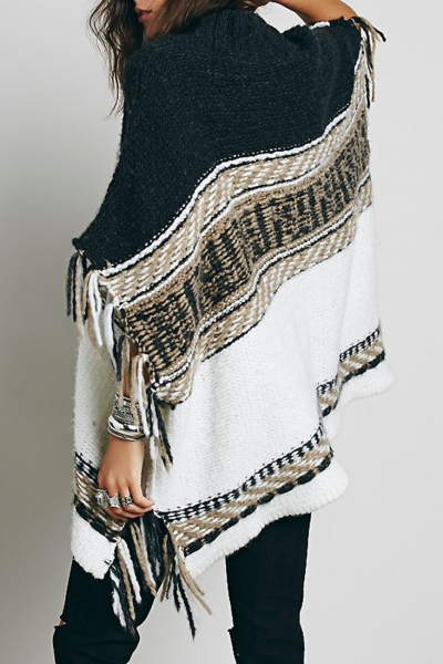 chic-striped-paneled-tasseled-poncho