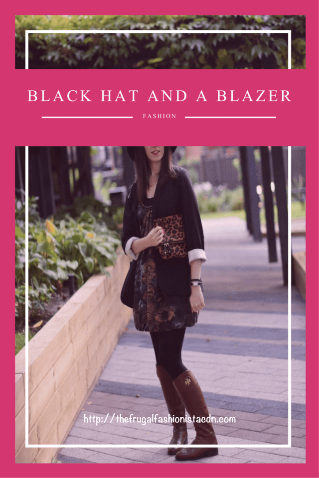 black hat and a blazer