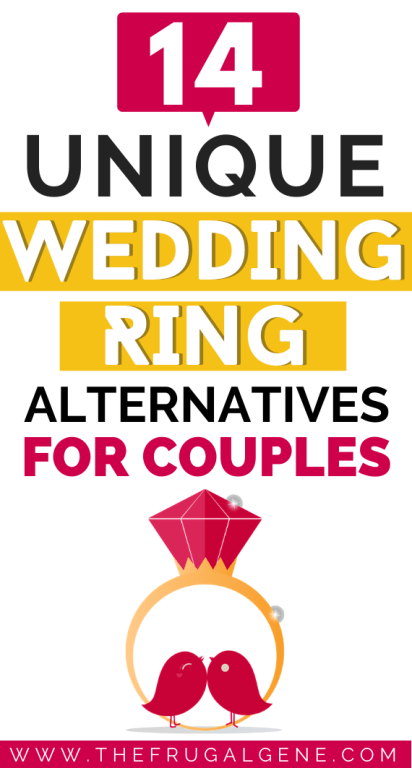 Wild n' wacky wedding ring ideas & suggestions for odd couples. None of these ring ideas cost very much to your budget and its suitable for anyone's lifestyle. - #Unique #WeddingRing Alternatives for Couples, Alternative Wedding Rings, Inexpensive Ideas, Young Couples, No Blood Diamonds, On a Budget, Cheap #Alternative Rings, Different, Simple, Cheap, For Men, Tattoo Ideas, Bride, Affordable, Nontraditional, Cool, Different, Non classic wedding rings, For him, her, Millennials, Frugal, #Weird