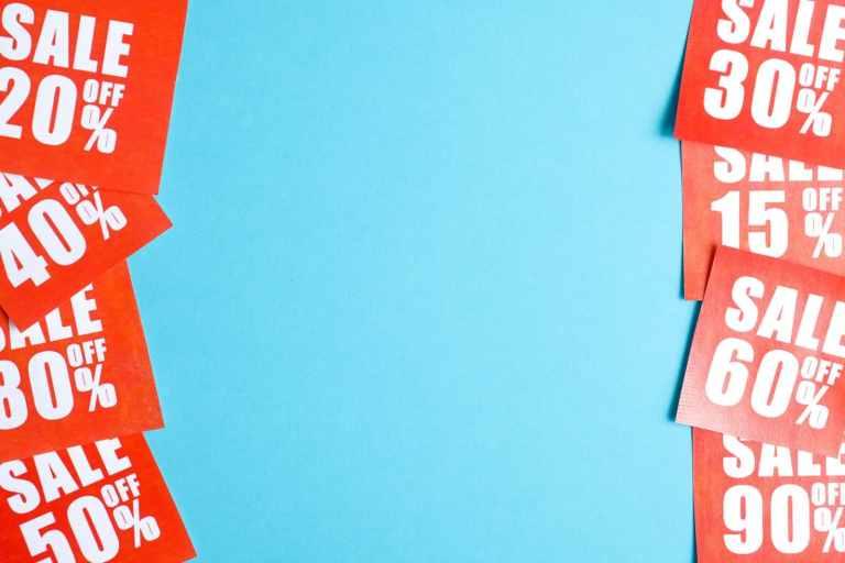 sales-labels-various-percentages-printed-red-paper-both-sides-blue