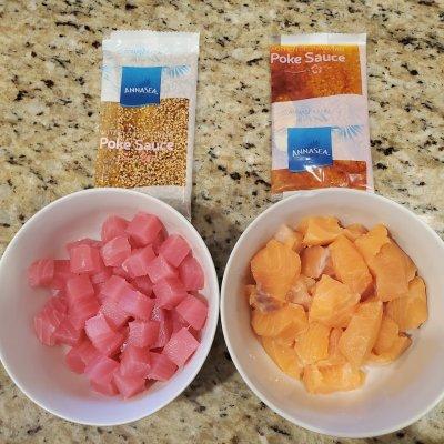 Annasea Poke Bowl Safeway Review Raw Fish Salad (Tuna Maguro Salmon) 5