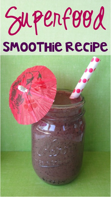 Superfood Smoothie Recipe from TheFrugalGirls.com