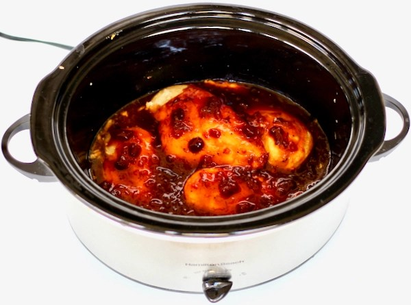 Crockpot Cranberry Chicken Breasts