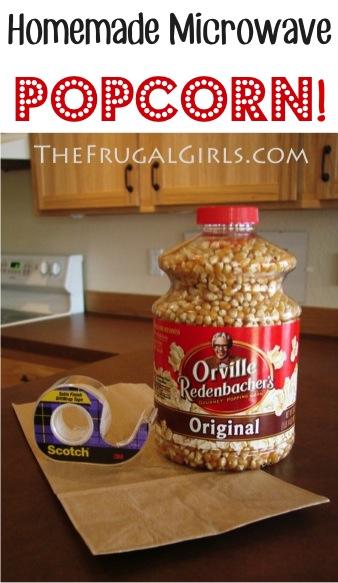 Easy Homemade Microwave Popcorn Recipe at TheFrugalGirls.com