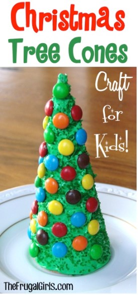 Christmas Tree Cones Craft for Kids from TheFrugalGirls.com