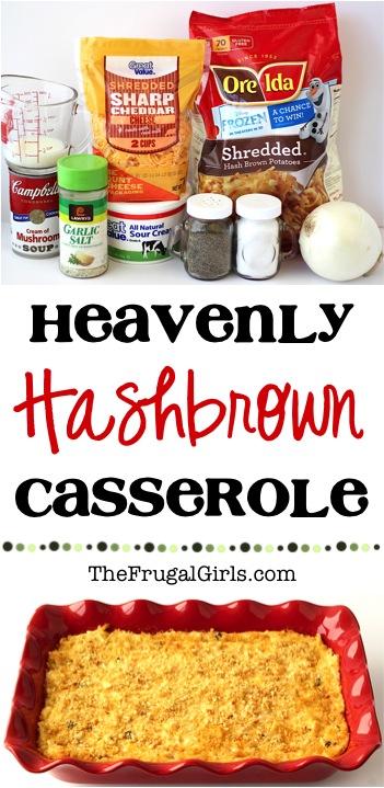 Hash Brown Casserole Recipe from TheFrugalGirls.com