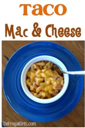 Taco Mac and Cheese Recipe at TheFrugalGirls.com