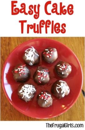 Easy Cake Truffles Recipe from TheFrugalGirls.com