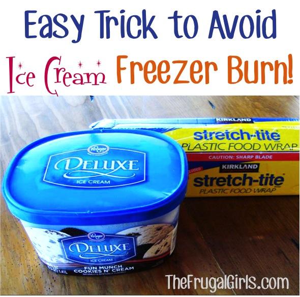 How to Avoid Ice Cream Freezer Burn from TheFrugalGirls.com