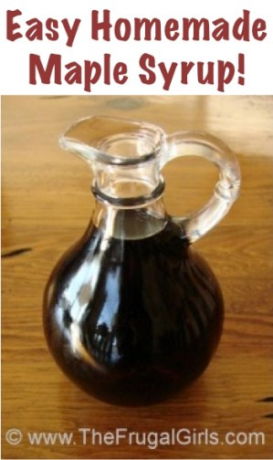 Easy Homemade Maple Syrup Recipe from TheFrugalGirls.com