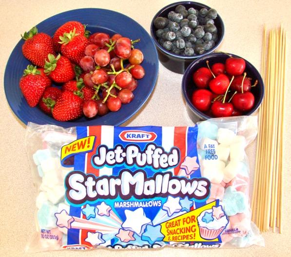 4th of July Dessert Kabobs