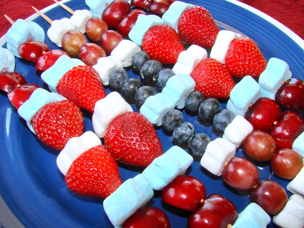 4th of July Fruit Kabobs Recipes