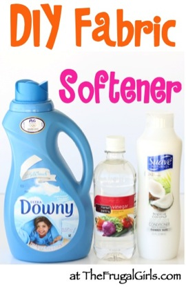 Homemade Fabric Softener Recipe from TheFrugalGirls.com