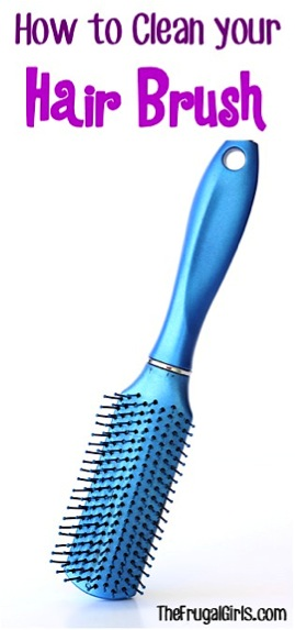 How to Clean your Hair Brush from TheFrugalGirls.com
