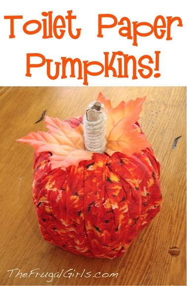 Toilet Paper Pumpkin Craft