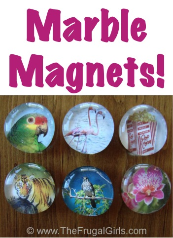 DIY Marble Magnets Tutorial from TheFrugalGirls.com