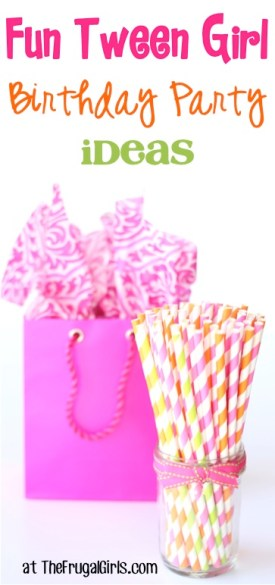 Fun Tween Girl Birthday Party Ideas at TheFrugalGirls.com