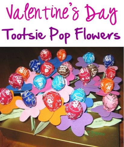 Valentine's Day Candy Crafts: Tootsie Pop Flowers at TheFrugalGirls.com