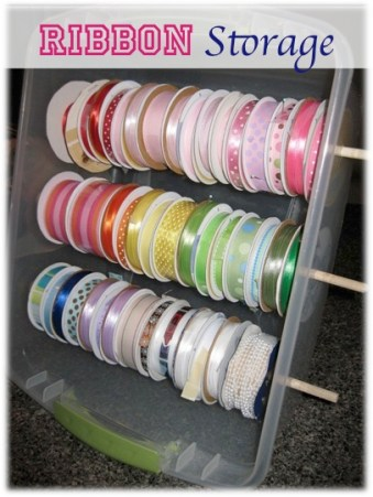 Ribbon Storage Ideas from TheFrugalGirls.com