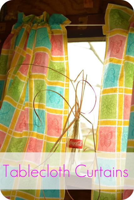 DIY Playhouse Curtains at TheFrugalGirls.com