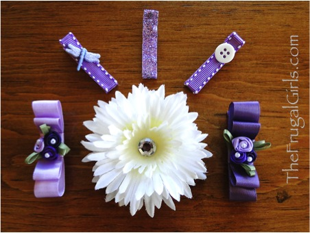 How to Make Spring Hair Clips from TheFrugalGirls.com