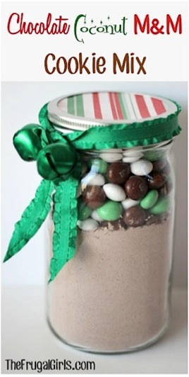 Chocolate Coconut M&M Cake Mix in a Jar