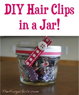 DIY Hair Clips in a Jar