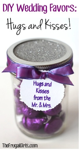 DIY Wedding Favors Hugs and Kisses
