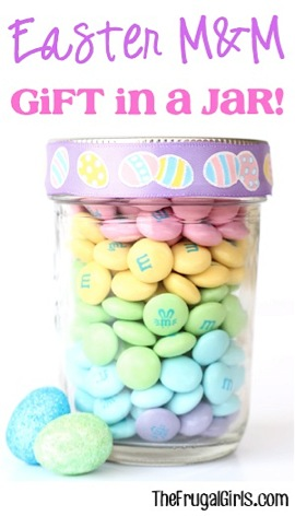 Easter M&M Gift in a Jar