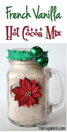 French Vanilla Hot Cocoa Mix in a Jar