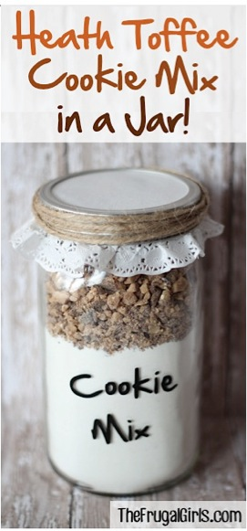 Heath Toffee Cookie Mix in a Jar