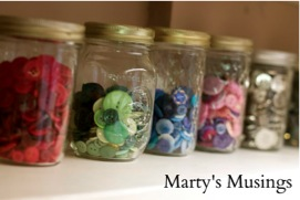 Organizing Buttons with Jars