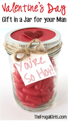Valentines Day Gift in a Jar for Your Man