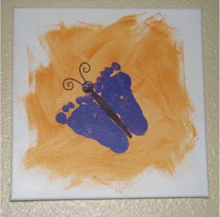5 Fun Handprint Canvas Art Ideas And Footprint The Frugal Girls
