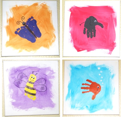 Handprint Canvas Art Ideas