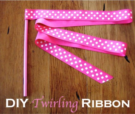 How to Make a Twirling Ribbon at TheFrugalGirls.com
