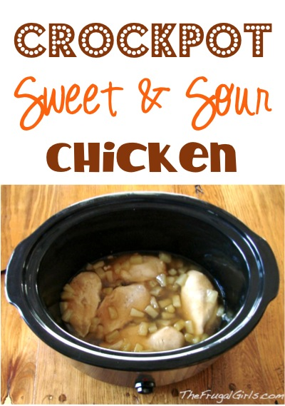 Crockpot Sweet and Sour Chicken Recipe from TheFrugalGirls.com