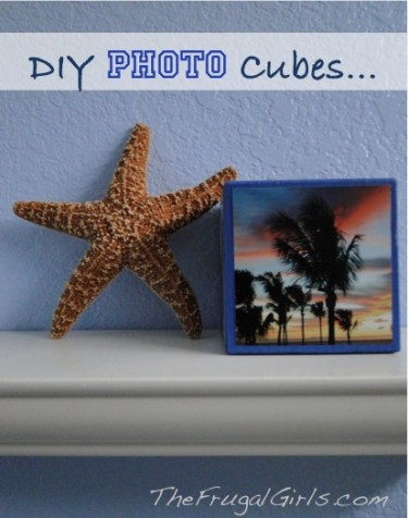 DIY Photo Cube from TheFrugalGirls.com