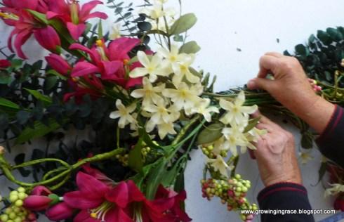 Diy Floral Swag Tutorial The Frugal Girls