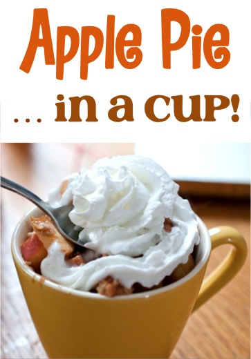 Homemade Apple Pie in a Cup Recipe ~ at TheFrugalGirls.com