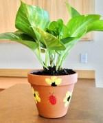 Fingerprint Flower Pot Craft