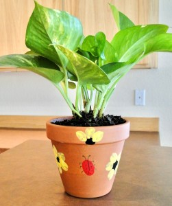 Fingerprint Flower Pot Craft
