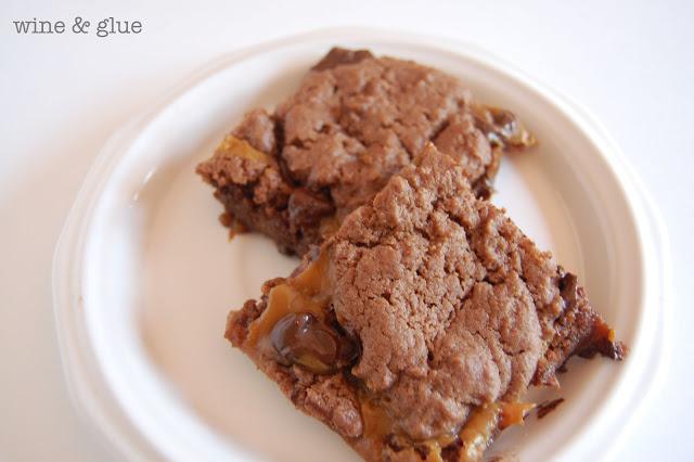 Chocolate Chip Caramel Brownies