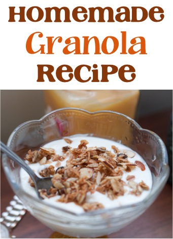 DIY Healthy Granola Recipe at TheFrugalGirls.com