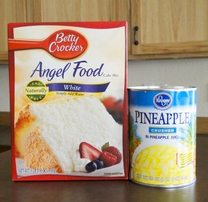 Pineapple Angel Food Cake Recipe from TheFrugalGirls.com