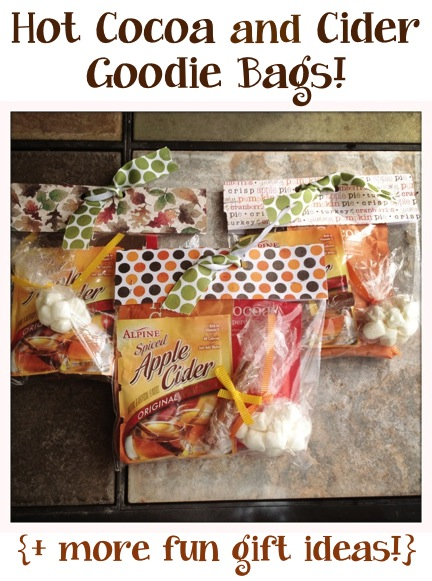 DIY Hot Cocoa Gift Bags at TheFrugalGirls.com
