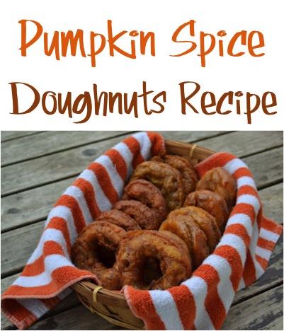 Pumpkin Spice Doughnuts Recipe at TheFrugalGirls.com