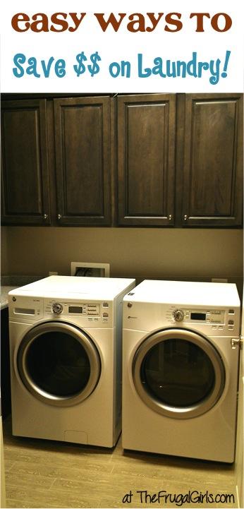 Laundry Money Saving Tips - from TheFrugalGirls.com