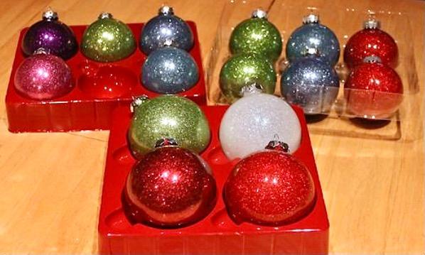 Glitter Christmas Ornaments DIY