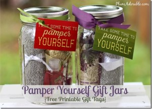Pamper Yourself Gifts in a Jar Ideas